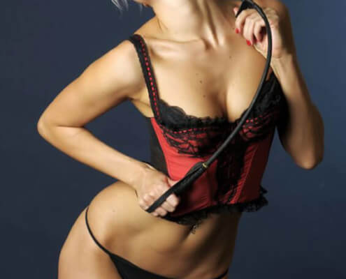 Las Vegas Call Girls | Ciara Frontal Red Lingerie Whip Photo | Girls Direct To You