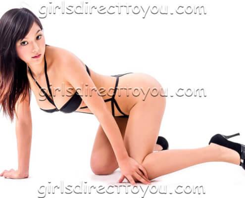 Las Vegas Escorts | Lin Kneeling Side Photo | Girls Direct To You