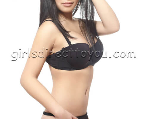 Las Vegas Asian Escorts | Kelly Frontal Black Underwear Photo | Girls Direct To You