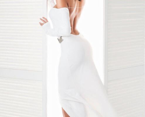 Escorts in Las Vegas | Ivana Dress Back Photo | Girls Direct To You